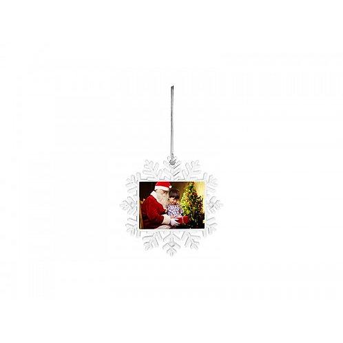 Custom Plastic Snowflake Ornament