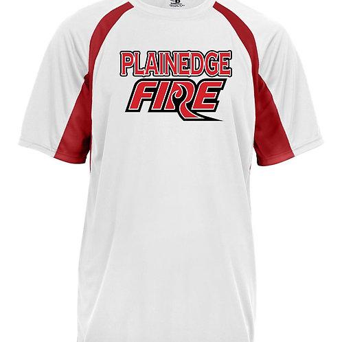Plainedge Fire 2020 Digital Dry Fit Dugout T Wht/Red
