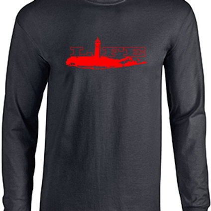 Cotton Long Sleeve - Red Logo