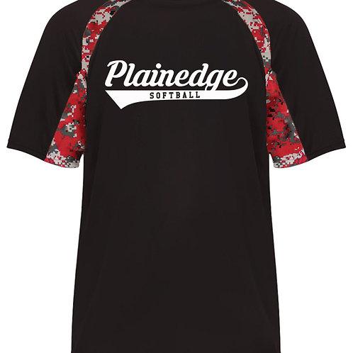 Plainedge Script Digital Camo Dry Fit T