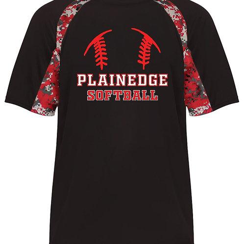 Plainedge Softball Digital Camo Dry Fit T