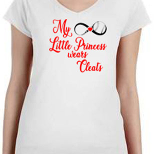 Women's Vneck - Princess Wears Cleats
