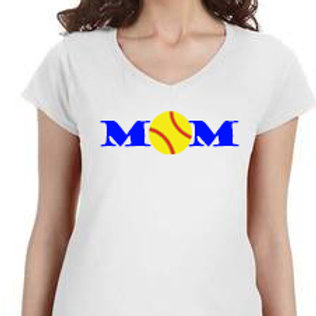 Softball Mom - V-Neck