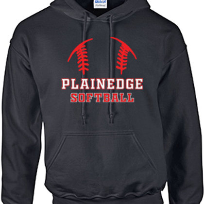Plainedge Softball Cotton Hoodie