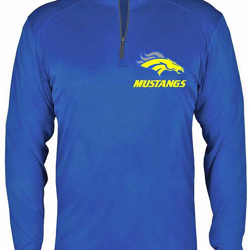 Quarter Zip Dry Fit Long Sleeve - Mustangs