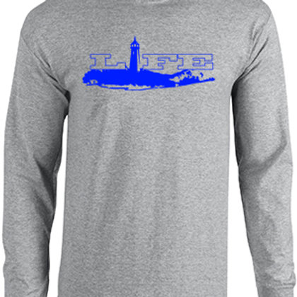 Cotton Long Sleeve - Blue Logo