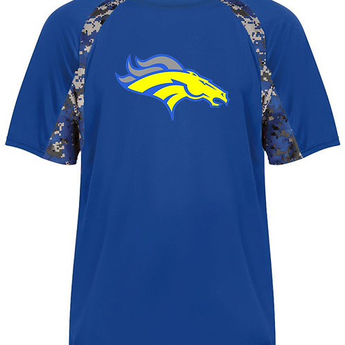 Mustangs - Blue Digi Camo Short Sleeve