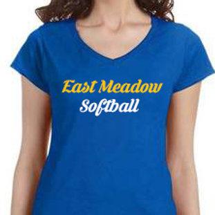 East Meadow Softball Women's V-Neck