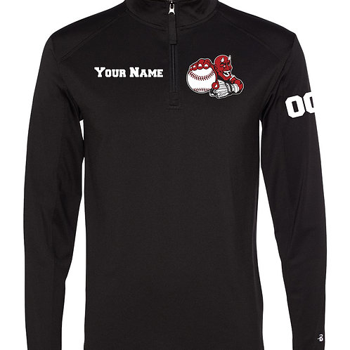 Quarter Zip Performance Long Sleeve - Custom