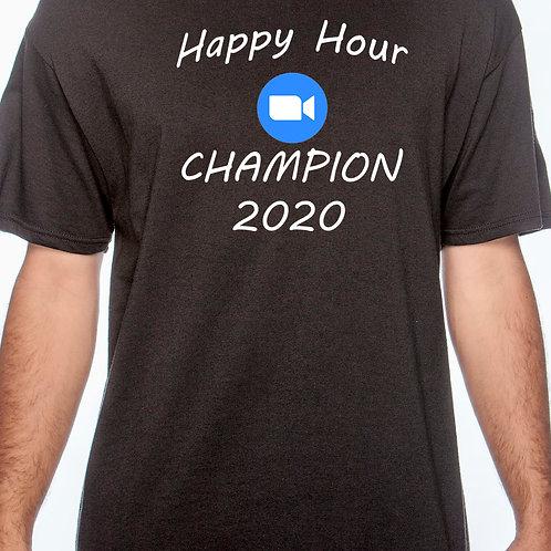 Happy Hour Zoom Champ Cotton T-Shirt
