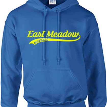 East Meadow Softball Script - Cotton Hoodie