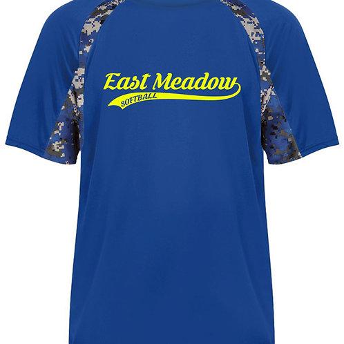 East Meadow Softball Script - Digi Camo Short Sleeve