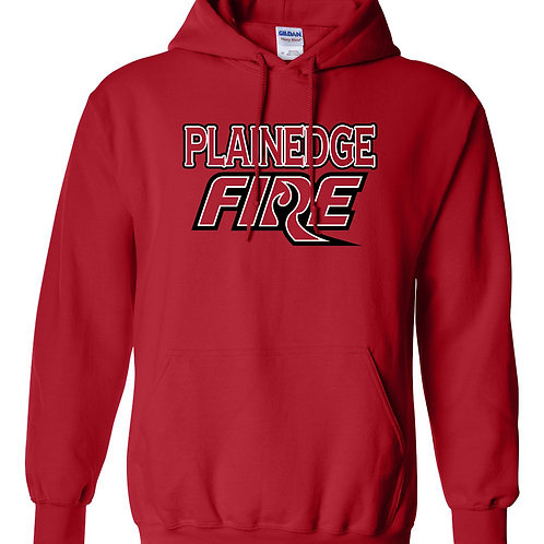 Custom Plainedge Fire 2020 Cotton Hoodie -Red