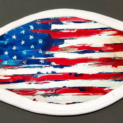 Abstract American Flag - Face Cover