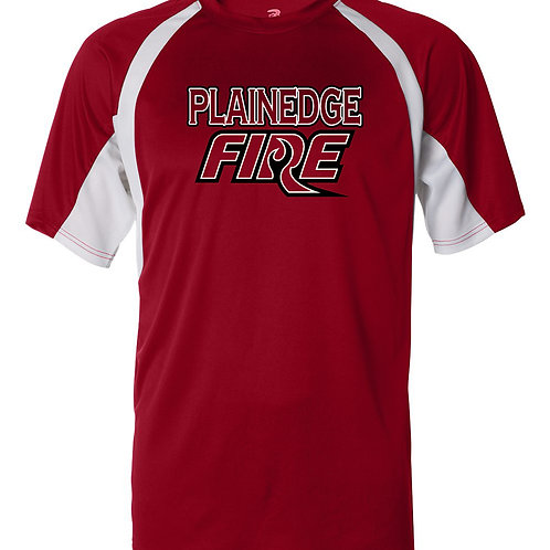Plainedge Fire 2020 Digital Dry Fit Dugout T Red/Wht