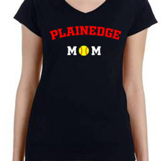 Women's Vneck -Plainedge Mom Black