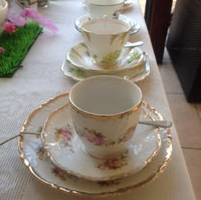 Vintage china, perfect for hen parties