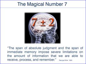 עקרון מילר- המספר הקסום שבע פלוס מינוס 2