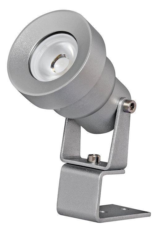 Mini Projetor de uso externo em aço inox.