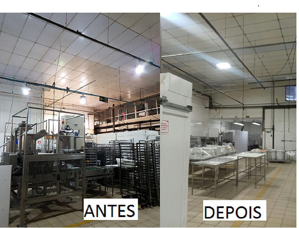 Retrofit iluminação industrial para galpão