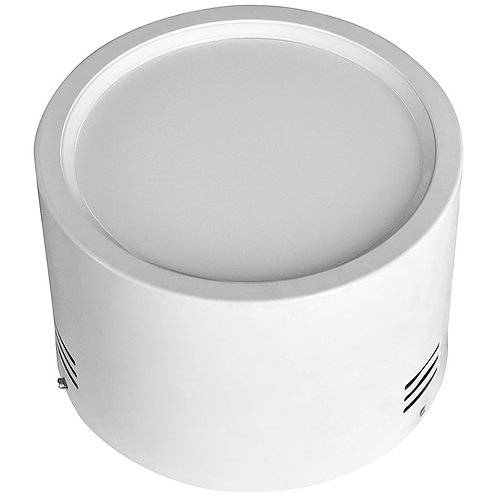 Luminária de Sobrepor Redonda de Alumínio Texturizado