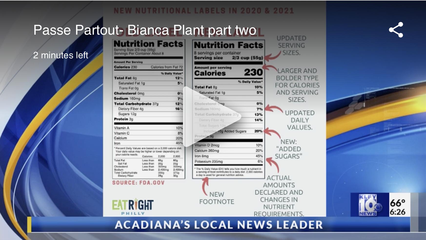 Health food guru Bianca Plant discusses National Nutrition Month