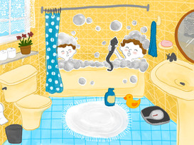 bathroom illustration salle de bain