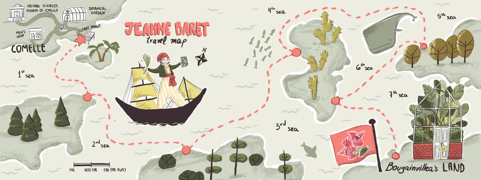 Jeanne Baret Travem Map