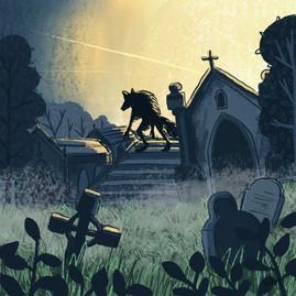werewolf illustration loup-garou