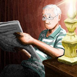 grandpa illustration grandpere