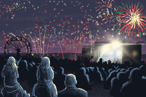 fireworks illustration feux d'artifice