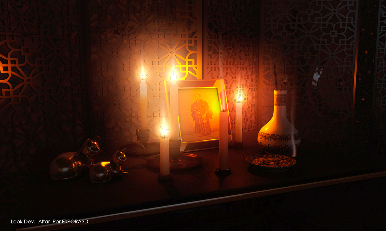 ESPORA3D - Look Dev Altar