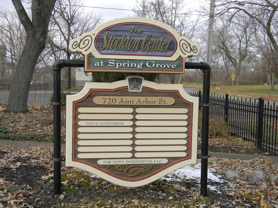 Stockton Business Sign