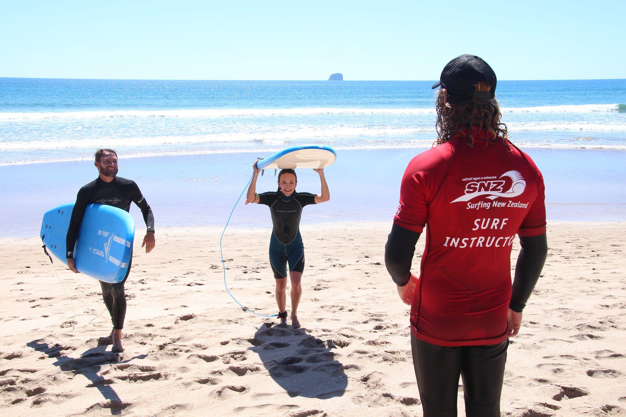 Surf Lesson, Te Puia Surf Co, Hot Water Beach