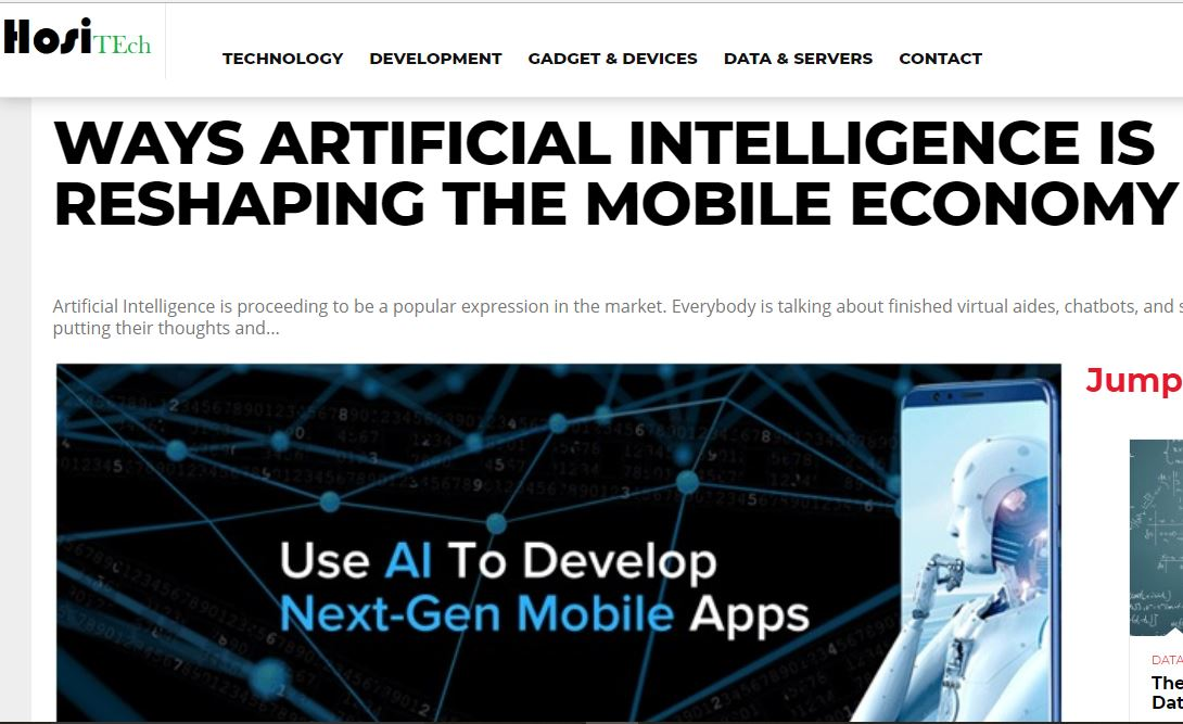 AI reshaping mobile economy