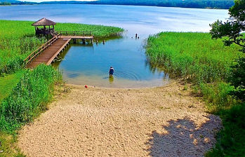 On lake in Poland