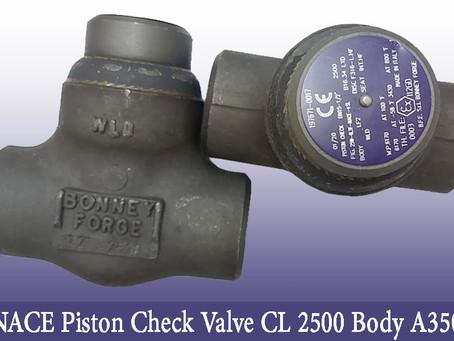 Bonney Forge Piston Check Valve Class 2500 Body A350 | Dammam Saudi Arabia