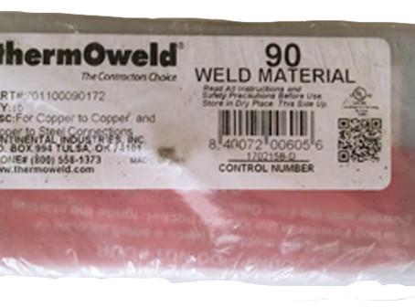 ThermOweld 701100090172, Weld Metal Number 90   UL Weld Material   Dammam Saudi Arabia
