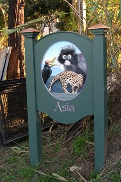 Santa Barbara Zoo train ride signage