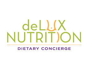 deLUX Nutrition logo design