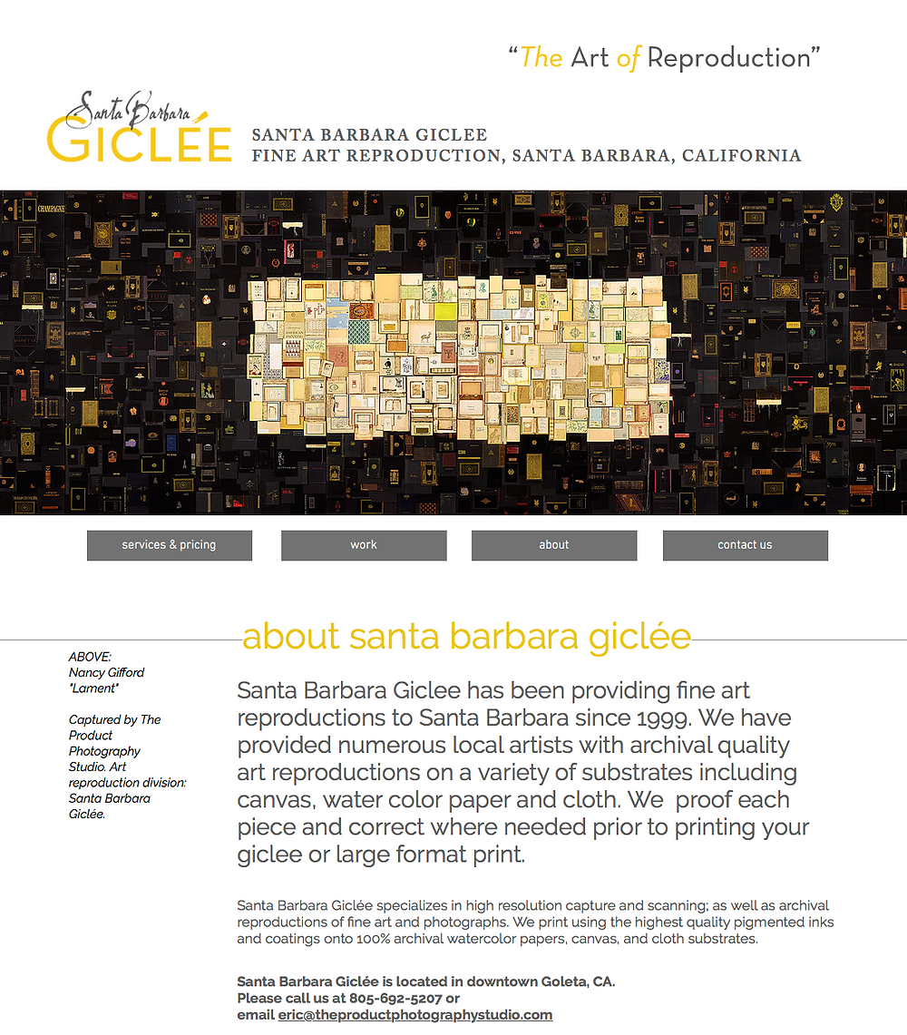 Santa Barbara Giclée website reboot