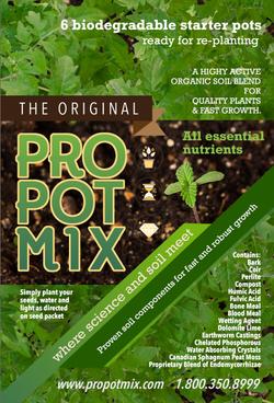 Potting soil package design