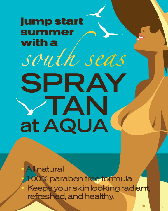 Spray tan poster