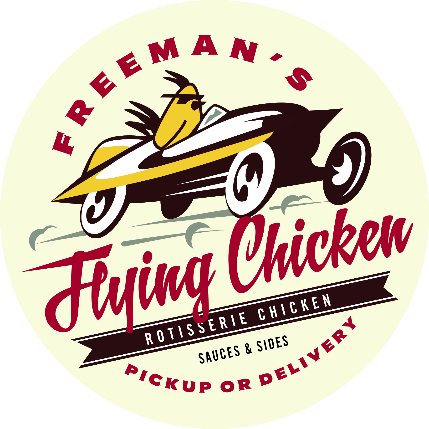 Freeman's Flying Chicken logo design