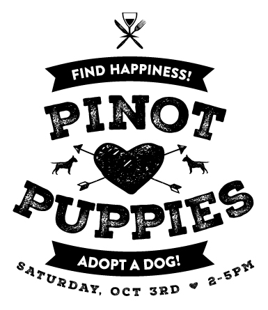 Pinot for Pups Logo design