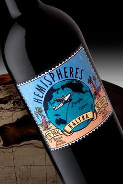 Hemispheres Wine Bottle