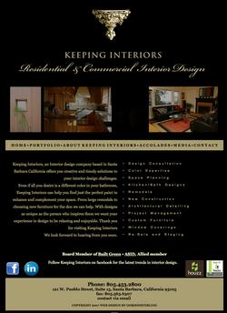 Keeping Interiors website