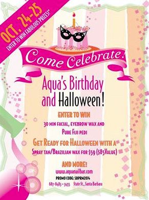 Halloween and Birthday flyer