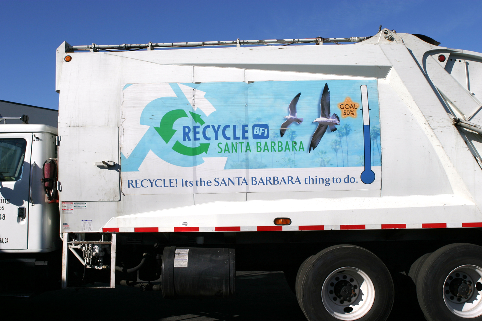Recycle truck sign