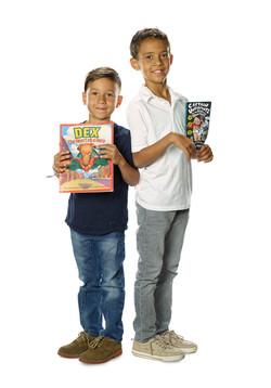 Kids Reading Books Portrait